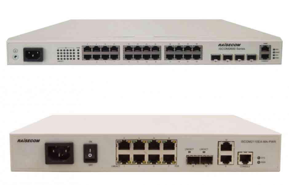 Управляемые коммутаторы ISCOM2600G-PWR, ISCOM2100-PWR Raisecom Series L2 Access Switch with PoE